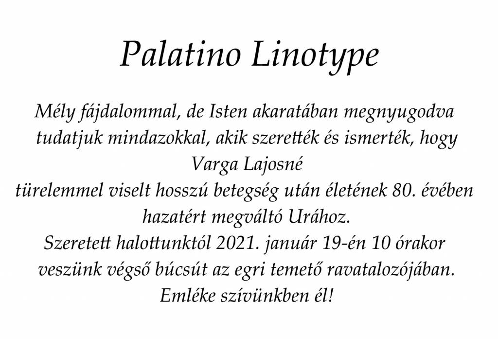 Palatino Linotype