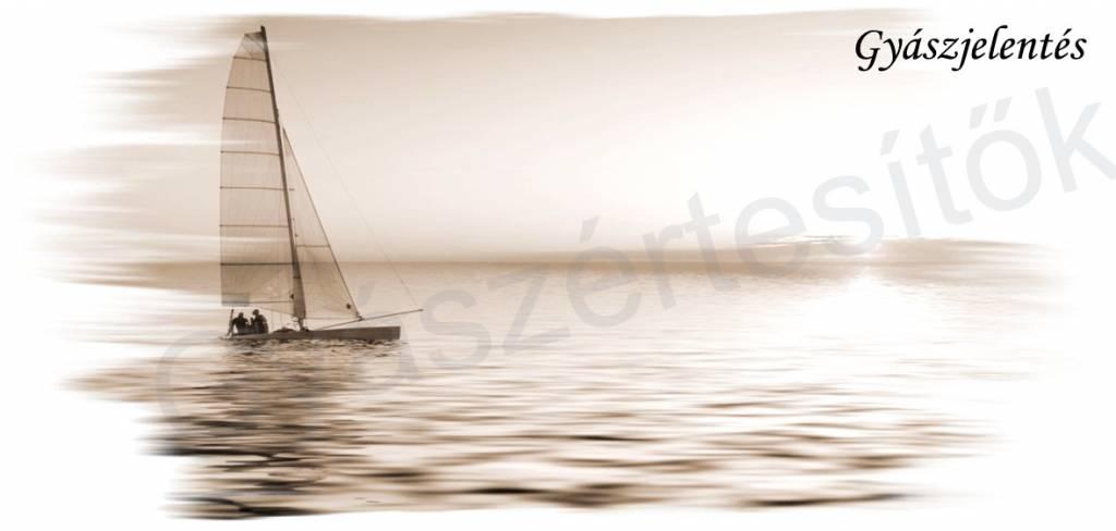 Hajós gyászjelentés fekvő 05