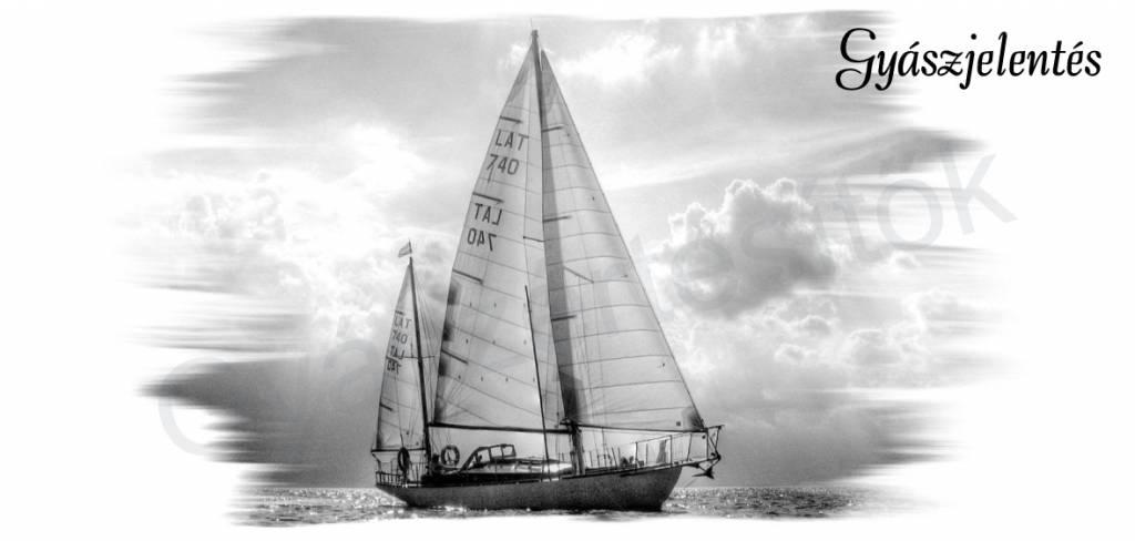 Hajós gyászjelentés fekvő 06